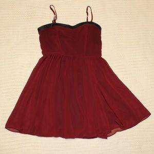 Maroon/burgundy flowy dress